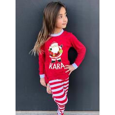 Σάντα Επιστολή Ριγέ Οικογένεια Εμφάνιση Χριστουγεννιάτικες πιτζάμες
