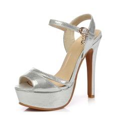 Femmes Similicuir Talon stiletto Sandales Plateforme Escarpins chaussures