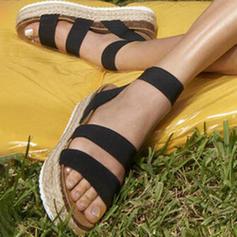 Dámské PU Placatý podpatek Sandály S otevřenou špičkou obuv