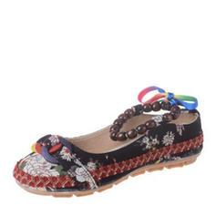 Femmes PU Talon plat Chaussures plates avec Brodé chaussures