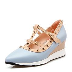 Women's PVC Wedge Heel Wedges With Rivet shoes