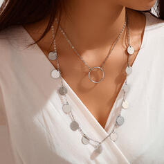 Attractive Alloy With Coin Necklaces 2 PCS