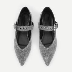Femmes Similicuir Talon plat Chaussures plates Bout fermé avec Boucle chaussures