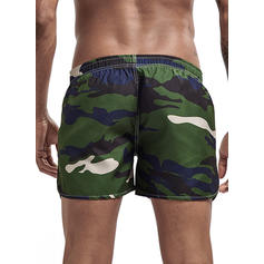 Men's Zebra-stripe Swim Trunks