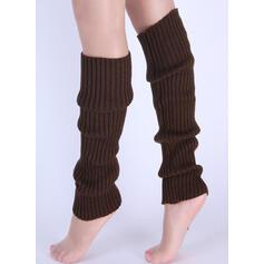 Rayé/Couleur unie Confortable/aux femmes/Jambières/Chaussettes à revers Chaussettes