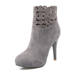 De mujer Ante Tacón stilettos Salón Cerrados Botas Botas al tobillo Botas longitud media con Cremallera zapatos