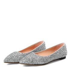 Femmes Similicuir Talon plat Chaussures plates avec Pailletes scintillantes chaussures
