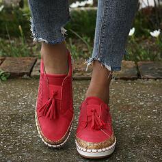 De mujer PU Tacón plano Planos con Agujereado Borla zapatos