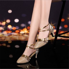 Women's Ballroom Heels Sandals Leatherette Latin