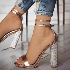 Women's PU Stiletto Heel Sandals Pumps With Buckle shoes