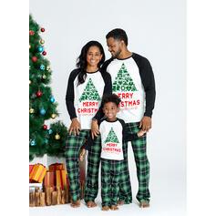 Carouri Literă Imprimeu De Familie Pijamale De Crăciun
