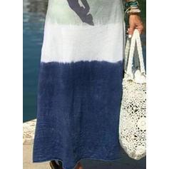 Print/Color Block/Tie Dye Short Sleeves Shift Casual/Vacation Maxi Dresses