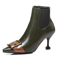Femmes Similicuir Talon stiletto Bottes avec Boucle chaussures