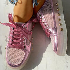 Women's PVC Mesh Casual Outdoor With Rivet Lace-up shoes