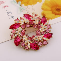Unique Alloy Rhinestones With Rhinestone Unisex Fashion Brooches (Sold in a single piece)
