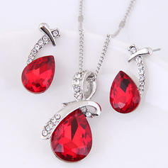 Fashionable Alloy Rhinestones Glass Ladies' Jewelry Sets