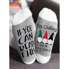 Buchstaben/Druck Atmungsaktiv/Weihnachten/Crew Socks/Unisex Socken