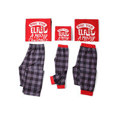 Letter Family Matching Christmas Pajamas