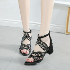 Women's PU Stiletto Heel Sandals Pumps With Sequin shoes