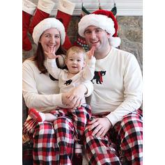 Ours Plaid Inmprimé Tenue Familiale Assortie Pyjama De Noël