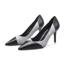 Mulheres Couro Salto agulha Bombas sapatos