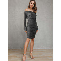 Solide Lange Mouwen Bodycon Potlood Feest/Elegant Medium Jurken
