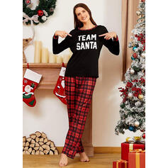 Plaid Letter Family Matching Christmas Pajamas