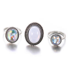 Exotic Alloy Women's Rings (Set of 3)