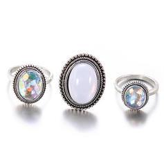 Exotisch Legierung Frauen Ringe (3-er Set)