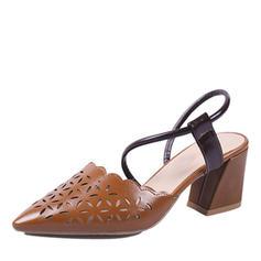 Femmes PU Talon stiletto Escarpins Bout fermé avec Ouvertes chaussures