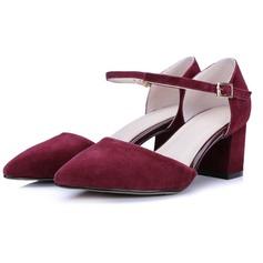 Naisten Mokkanahka Chunky heel Avokkaat kengät