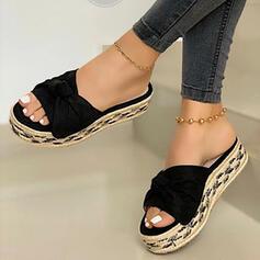 Dámské PU Placatý podpatek Sandály Boty Bez Podpatku Platforma S otevřenou špičkou Pantofle S Solid Color obuv