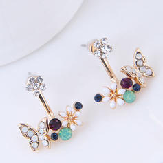 Fashionable Alloy Czech Stones Ladies' Fashion Earrings