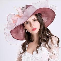 Ladies ' Piękny Organza Z Kokarda Floppy Hat