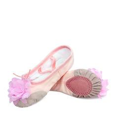 Enfants Ballet Chaussures plates Toile avec Une fleur Ballet