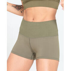 Solid Color High Waist Sports Shorts
