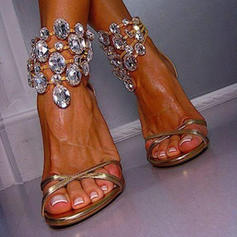 Women's Stiletto Heel Sandals With Crystal shoes