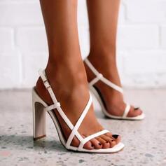 De mujer PU Tacón stilettos Salón Encaje Tacones con Hebilla Agujereado zapatos