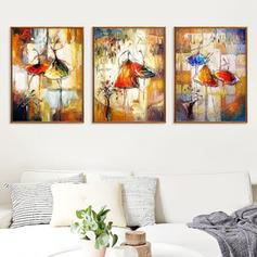 Modern Horizontal People Paintings Set of 1