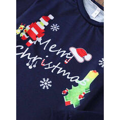 Santa Bear Letter Family Matching Christmas Pajamas