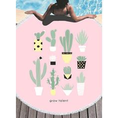 Květiny Vytahaný/kolo plážová osuška