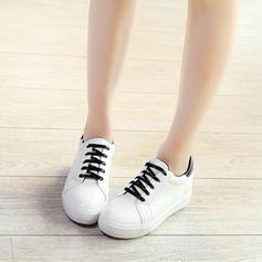 Naisten PU Rento Ulkona jossa Nauhakenkä kengät