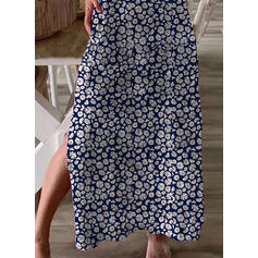 Print/Floral Short Sleeves Shift Casual/Vacation Maxi Dresses