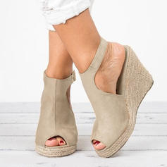 Women's Suede Wedge Heel Wedges With Others shoes