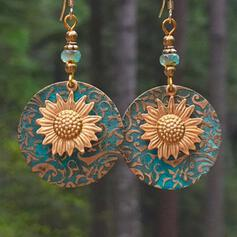Boho Sunflower Alloy Earrings 2 PCS