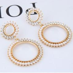 Stylish Alloy Rhinestones Imitation Pearls Women's Earrings