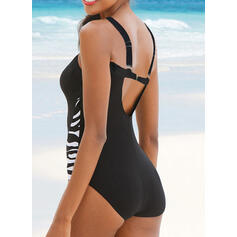 Stripe Strap Sexy One-piece Swimsuits