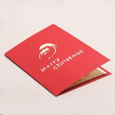 god Jul Santa 3D Med kuvert Kort Papper Gratulationskort vykort Inbjudningar