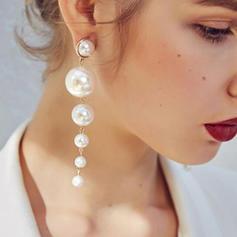 Brillant De faux pearl Boucles d'oreille de mode