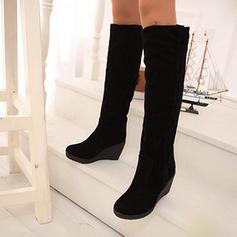De mujer PU Tipo de tacón Botas longitud media Botas de nieve con Piel Sintética zapatos
